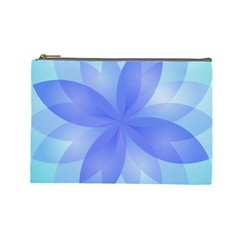 Abstract Lotus Flower 1 Cosmetic Bag (large) by MedusArt