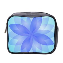 Abstract Lotus Flower 1 Mini Travel Toiletry Bag (two Sides) by MedusArt