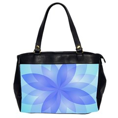 Abstract Lotus Flower 1 Oversize Office Handbag (two Sides) by MedusArt