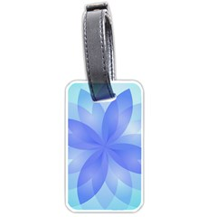 Abstract Lotus Flower 1 Luggage Tag (one Side) by MedusArt