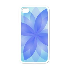 Abstract Lotus Flower 1 Apple Iphone 4 Case (white) by MedusArt