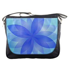 Abstract Lotus Flower 1 Messenger Bag by MedusArt