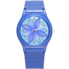 Abstract Lotus Flower 1 Plastic Sport Watch (small) by MedusArt