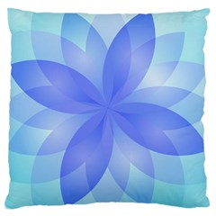 Abstract Lotus Flower 1 Large Cushion Case (two Sided)  by MedusArt