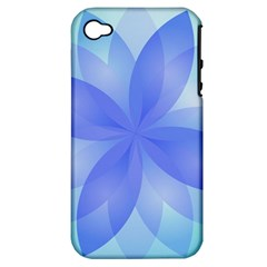 Abstract Lotus Flower 1 Apple Iphone 4/4s Hardshell Case (pc+silicone) by MedusArt