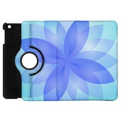Abstract Lotus Flower 1 Apple Ipad Mini Flip 360 Case by MedusArt