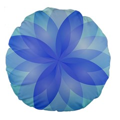 Abstract Lotus Flower 1 18  Premium Round Cushion  by MedusArt