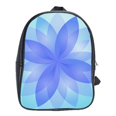 Abstract Lotus Flower 1 School Bag (xl) by MedusArt