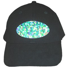 Mosaic Sparkley 1 Black Baseball Cap by MedusArt
