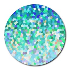 Mosaic Sparkley 1 8  Mouse Pad (round) by MedusArt