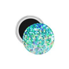 Mosaic Sparkley 1 1 75  Button Magnet by MedusArt