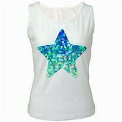 Mosaic Sparkley 1 Women s Tank Top (white) by MedusArt