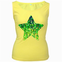 Mosaic Sparkley 1 Women s Tank Top (yellow) by MedusArt