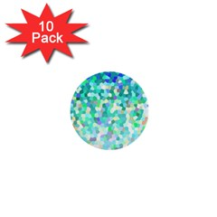 Mosaic Sparkley 1 1  Mini Button (10 Pack) by MedusArt