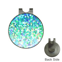 Mosaic Sparkley 1 Hat Clip With Golf Ball Marker by MedusArt