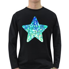 Mosaic Sparkley 1 Men s Long Sleeve T-shirt (dark Colored) by MedusArt
