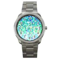 Mosaic Sparkley 1 Sport Metal Watch by MedusArt