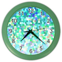 Mosaic Sparkley 1 Wall Clock (color) by MedusArt