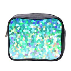 Mosaic Sparkley 1 Mini Travel Toiletry Bag (two Sides) by MedusArt