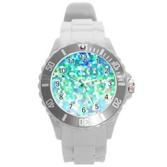Mosaic Sparkley 1 Plastic Sport Watch (large) by MedusArt
