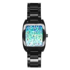 Mosaic Sparkley 1 Stainless Steel Barrel Watch by MedusArt