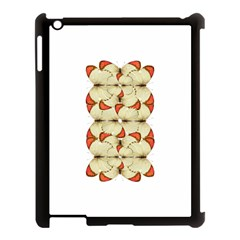 Butterfly Art White&orage Apple Ipad 3/4 Case (black) by BrilliantArtDesigns