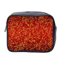 Glitter 3 Mini Travel Toiletry Bag (two Sides) by MedusArt