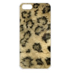 Leopard Coat2 Apple Iphone 5 Seamless Case (white) by BrilliantArtDesigns