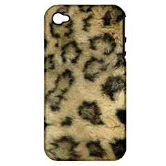 Leopard Coat2 Apple Iphone 4/4s Hardshell Case (pc+silicone) by BrilliantArtDesigns