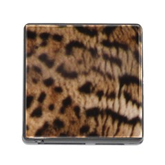 Ocelot Coat Memory Card Reader With Storage (square) by BrilliantArtDesigns