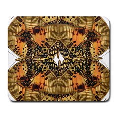 Butterfly Art Tan & Orange Large Mouse Pad (rectangle) by BrilliantArtDesigns