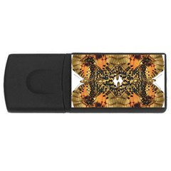 Butterfly Art Tan & Orange 4gb Usb Flash Drive (rectangle) by BrilliantArtDesigns