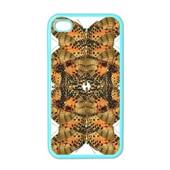 Butterfly Art Tan & Orange Apple Iphone 4 Case (color) by BrilliantArtDesigns