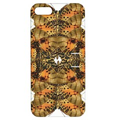 Butterfly Art Tan & Orange Apple Iphone 5 Hardshell Case With Stand by BrilliantArtDesigns