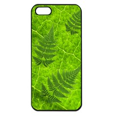 Leaf & Leaves Apple Iphone 5 Seamless Case (black) by BrilliantArtDesigns