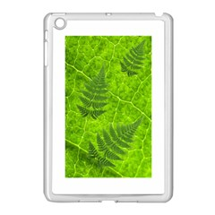 Leaf & Leaves Apple Ipad Mini Case (white) by BrilliantArtDesigns