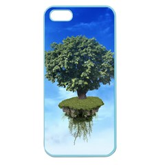 Floating Island Apple Seamless Iphone 5 Case (color) by BrilliantArtDesigns