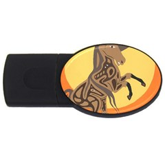 Embracing The Moon 2gb Usb Flash Drive (oval) by twoaboriginalart