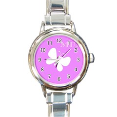 Mom Round Italian Charm Watch