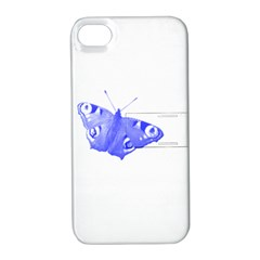 Decorative Blue Butterfly Apple Iphone 4/4s Hardshell Case With Stand by Colorfulart23