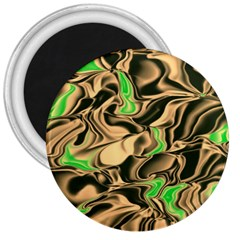 Retro Swirl 3  Button Magnet by Colorfulart23