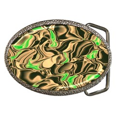 Retro Swirl Belt Buckle (oval) by Colorfulart23