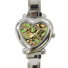 Retro Swirl Heart Italian Charm Watch  by Colorfulart23