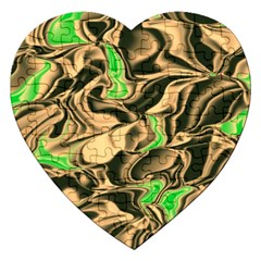 Retro Swirl Jigsaw Puzzle (heart) by Colorfulart23