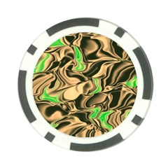 Retro Swirl Poker Chip (10 Pack) by Colorfulart23