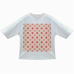 Pale Pink Polka Dots Baby T-shirt by Colorfulart23
