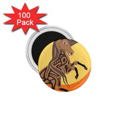 Embracing The Moon 1 75  Button Magnet (100 Pack) by twoaboriginalart