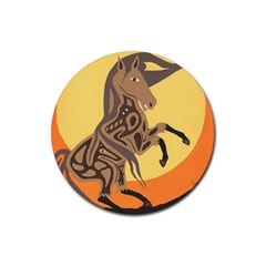 Embracing The Moon Drink Coaster (round) by twoaboriginalart