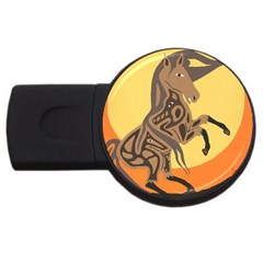 Embracing The Moon 2gb Usb Flash Drive (round) by twoaboriginalart