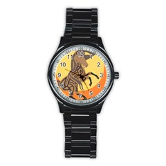 Embracing The Moon Sport Metal Watch (black) by twoaboriginalart